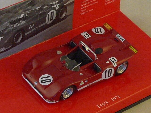 MINICHAMPS 436711210 - Alfa Romeo 33T   3 1000KM Nurburgring 1971 N°10  1 43