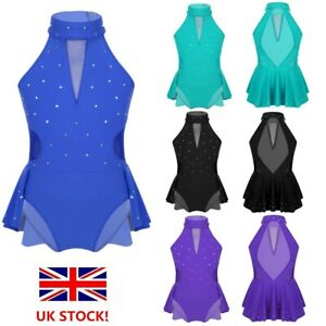 UK-Girls-Ballet-Dance-Dress-Kid-Modern-Jazz-Dance-Costume-Leotards-Gym-Dancewear