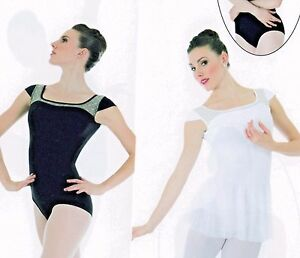 1fa449826 NWT Body Wrappers p863 Capsleeve v back Protech Leotard 3 colors ...