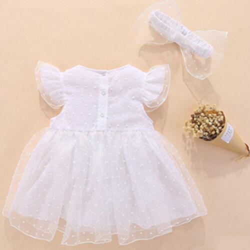 Baby Girls 1st Birthday Tutu Dress Princess Outfit Headband Party 2PCS Clothes