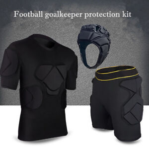 14c344ad2 Free postage. Image is loading FOOTBALL-GOALKEEPER-CLOTHING -YOUTH-ADULT-SOCCER-PADDED-TOP-