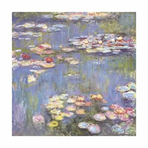 Oeuvre Imprimée - Eau Lys, 1916 Par Claude Monet 28x28