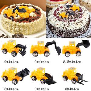 Image Is Loading 6pcs Set Engineering Vehicle Cake Topper Kids Boy