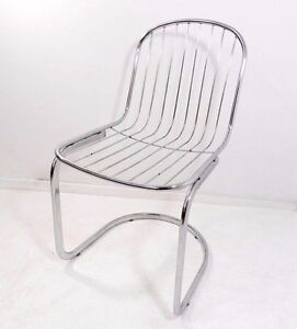 Delicieux Details About Vintage MCM Metal Chrome Cantilevered Wire Chair