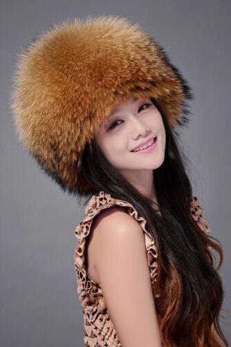 100/% REAL full fox fur hat Winter Women fox fur hat New Hat Cap Headgear Beanie