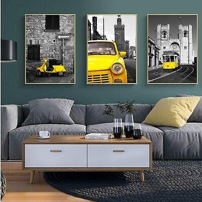 Art Fabric Print Canvas Poster Owl Black White Paint Wall Decor No Frame S180