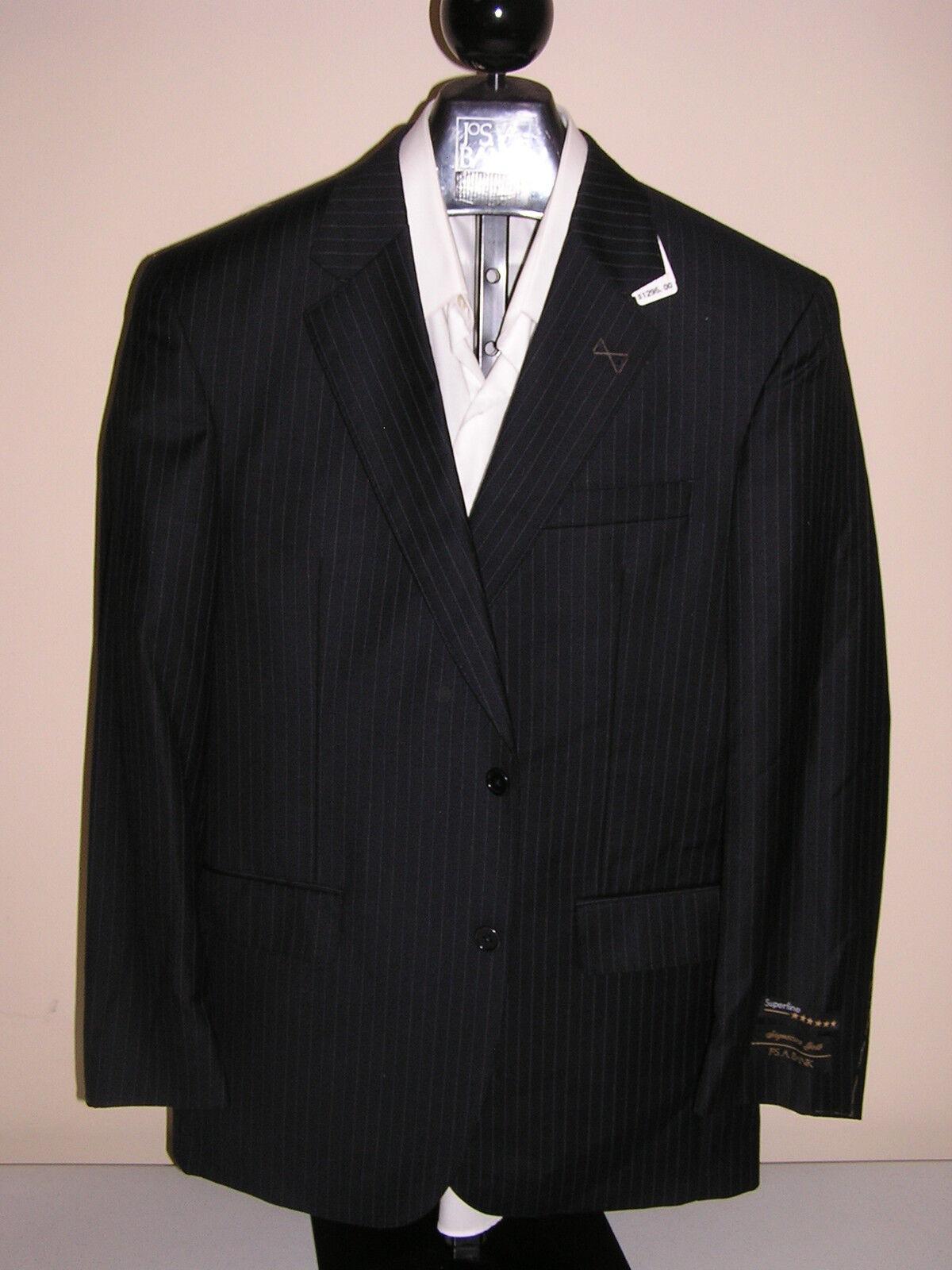 1295 new Jos A Bank Signature Gold  Navy stripe 2 button suit 40 L 34 W