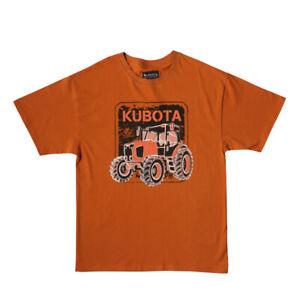 Kubota Branded Crew Neck Tractor Print T-shirt