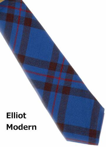 Tartan Tie Elliot Modern Scottish Wool Plaid