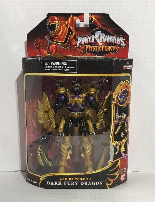 Power Rangers Mystic Force Knight Wolf to Dark Fury Dragon New 7  Ranger 2006