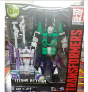 HASBRO TRANSFORMERS TITANS RETURN SIX SHOT LEADER CLASS ACTION FIGURE MISB !