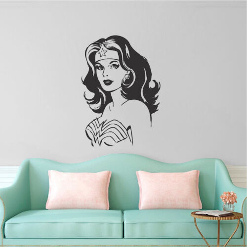 s97 Wonder Woman Wall Decal Justice League Mural Superhero Diane Prince Art