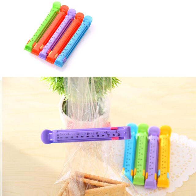 5Pcs Kitchen Date Sealing Clips Seal Plastic Bags Snack Food Clip Sealer ADJR
