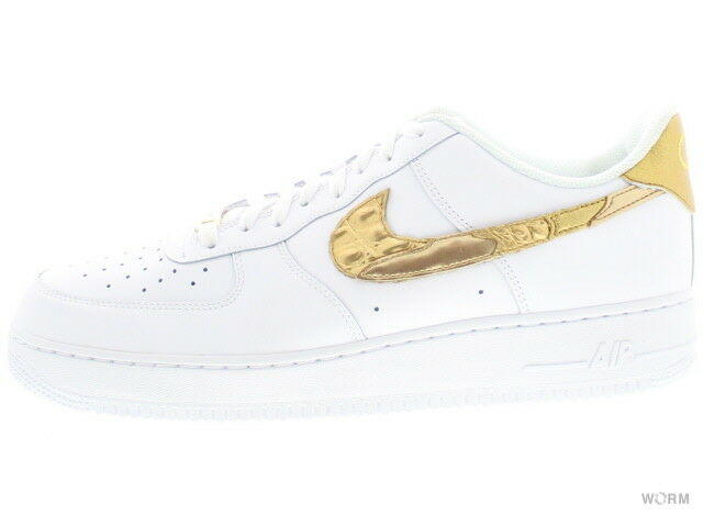 NIKE AIR FORCE 1 '07 CR7  goldEN PATCHWORK  aq0666-100 Size 12