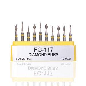 1-Set-Dental-Composite-Repair-Handpiece-Diamond-Burs-Air-Turbine-Kit-FG-117