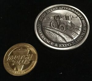 John Deere 5000 Tractor Introduction Pewter Medallion 1992 Nashville Plus Extra