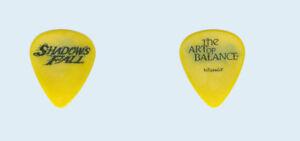 Shadows-Falls-2002-tour-used-Black-on-Yellow-Art-of-Balance-band-Guitar-Pick-Pic