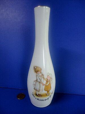 """Vtg 1977 Holly Hobbie Porcelain Flower Bud Vase 7.5"""" T Love Is The Little Things Dolls & Bears"""