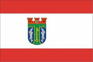 BANDTILEFahne Flagge Berlin Treptow-Köpenick 60 x 90 cm Bootsflagge Premiumqualität