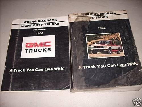 1986 Gmc S Truck Service Shop Repair Manual Set Oem W