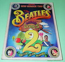 THE BEATLES * Illustrated Lyrics 2 * Alan Aldridge * 1971 Softback Book *