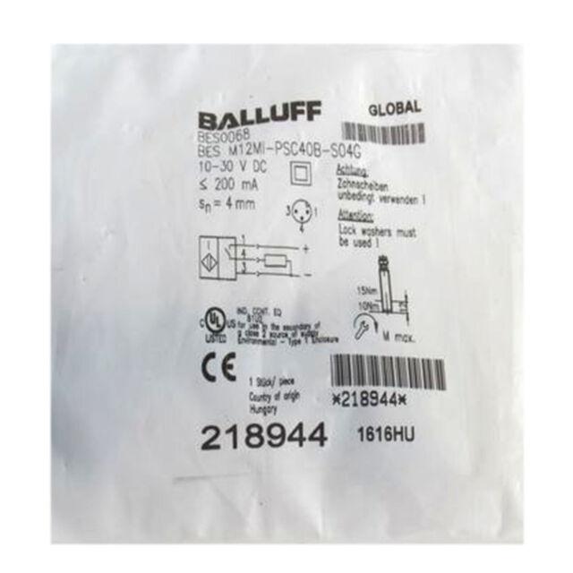 A●BALLUFF BES M12MI-PSC40B-S04G(BES0068) Inductive Standard Sensors PNP New