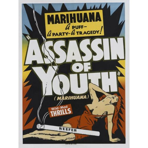 Weed Reefer Madness Cannabis Marijuana Drugs Unframed Art Print Poster Pack of 4