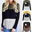 Women-Maternity-Long-Sleeve-Striped-Nursing-Tops-T-shirt-For-Breastfeeding thumbnail 1