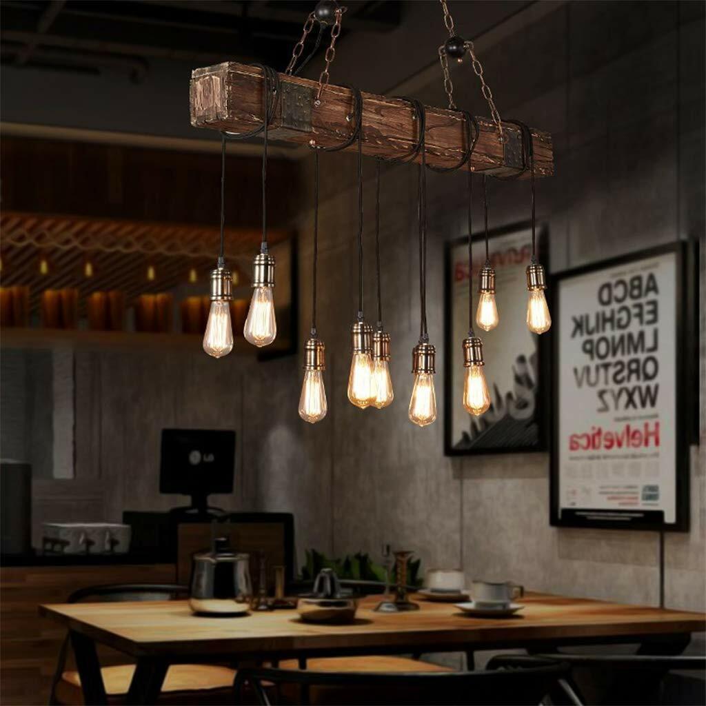 10 Light Hanging Chandelier Rustic Suspension Vintage Restaurant Bar Kitchen New