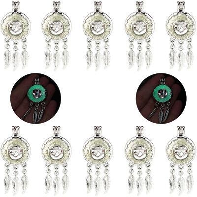5 Pack Glow in the Dark Big Lotus Beads Cage Locket Pendant K1027