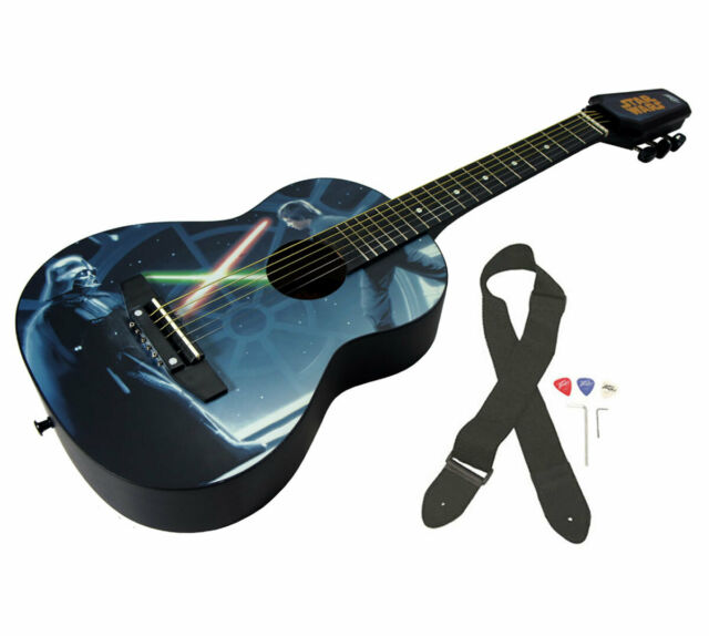 Peavey Star Wars Classic Luke vs Vader 1//2 Size Student Acoustic Guitar /& Stand