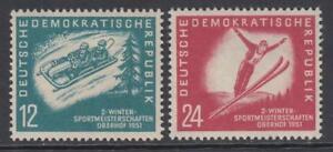 GERMANY-DDR-1951-Mi-280-281-MNH-Sport-in-DDR