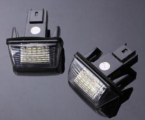 2 LED ECLAIRAGE DE PLAQUE D/'IMMATRICULATION ARRIERE FEUX CITROEN XSARA PICASSO