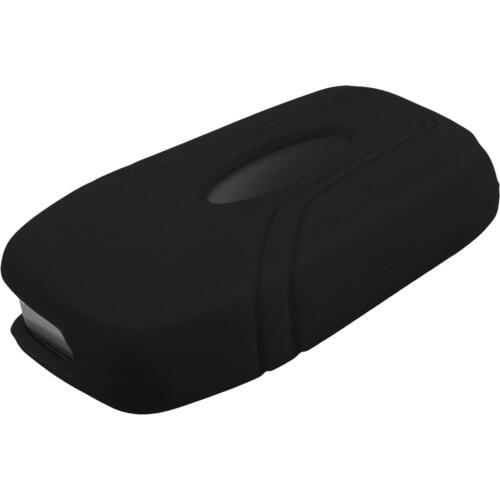 Silicone Clé Coque Ford New Mondeo//Escort 3 touches Noir pliante Clé