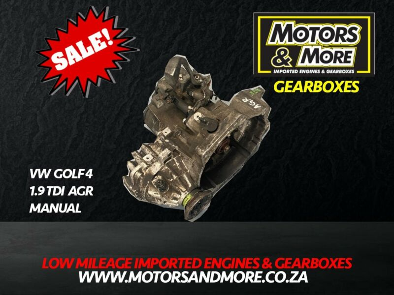 VW Golf 4 1.9 TDI AGR Manual Gearbox now available at Motors & More Gqeberha - PE