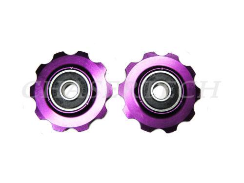 MTB Road Bike Rear Derailleur Jockey Wheel Pulley 10T Purple