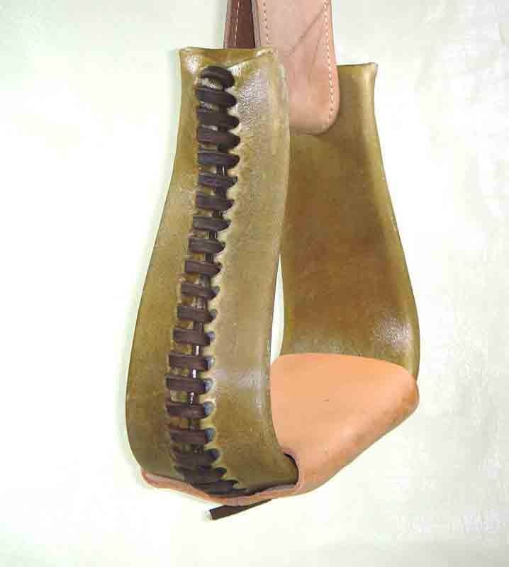 Natural Rawhide Coverot Crooked Stirrup