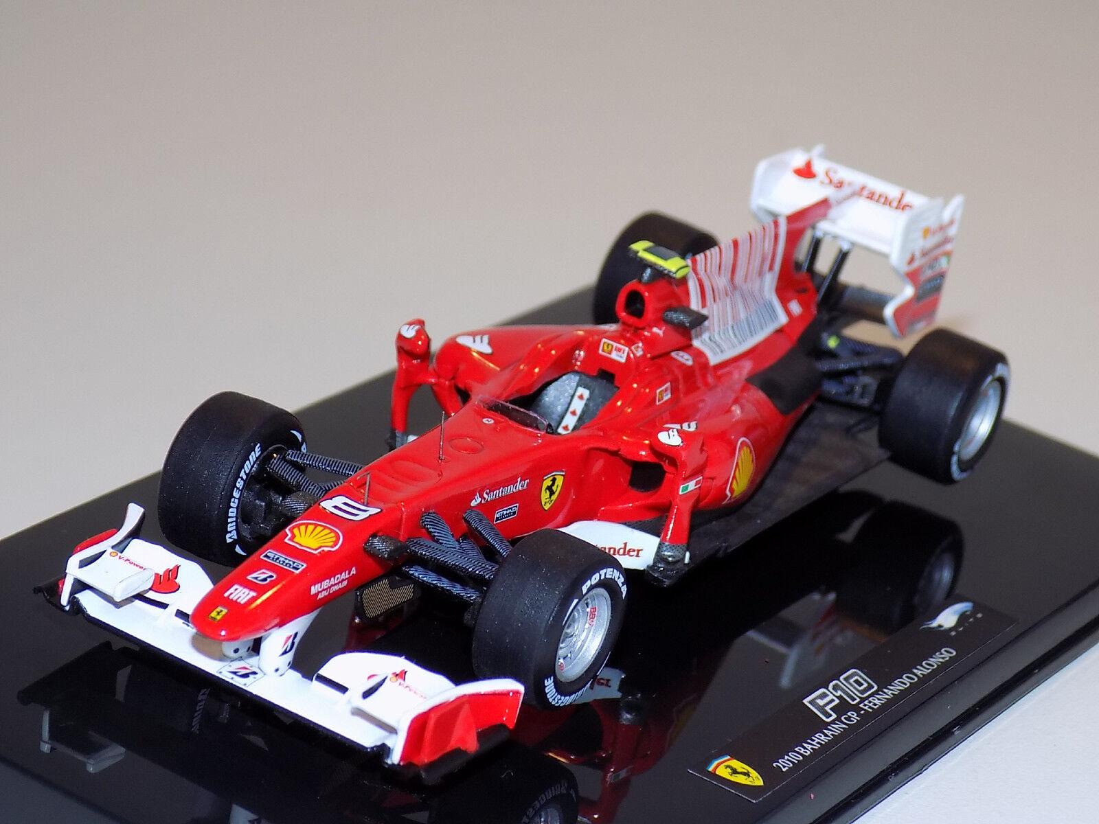 1 43 Mattell varm Wheels F1 Ferrari F10 Vinnare Grand Prix Bahrain Alonso