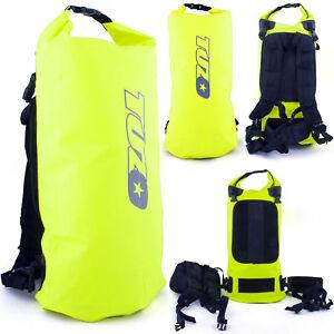 New Tuzo Roll Top Waterproof Backpack Rucksack Dry Bag Sack Flo Yellow 40 Litre