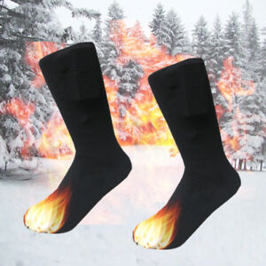 78b747319f9 2019 Electric 3V Heated Socks Heating Feet Heater Winter Foot Shoe ...