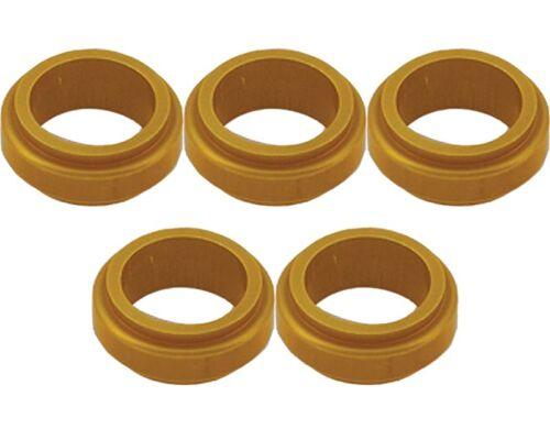 5 Gold 17mm x 10mm Alloy Wheel Spacers Prokart Cadet  UK KART STORE