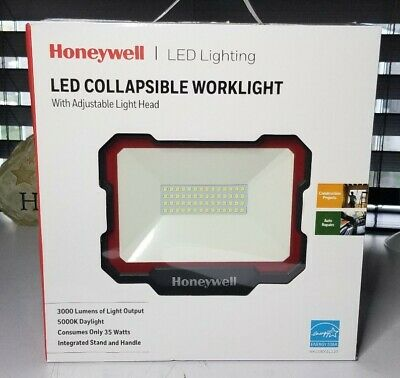 High Brightness Work Light for Car Repairing Garage and Workshop Portable Work Light with Integrated Stand and Handle Honeywell 3000LM LED Work Light