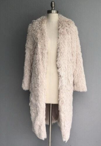 Womens Luii Shag Fur Jacket Off-white Size Large