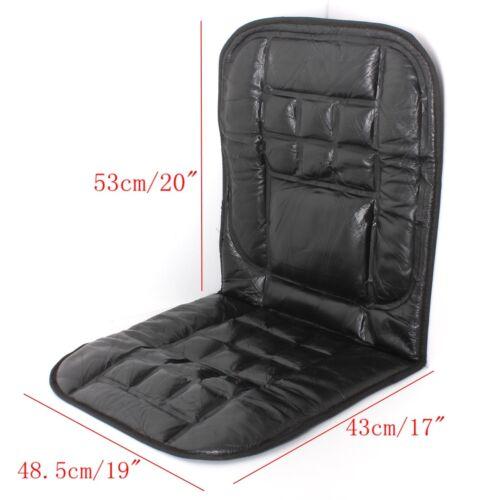 2x respaldo de cuero delante funda del asiento cojines de silla de masaje para coche taxi van