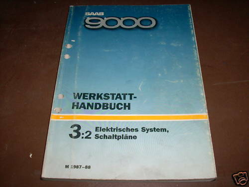 Workshop Manual Saab 9000 Electricity Wiring Diagrams