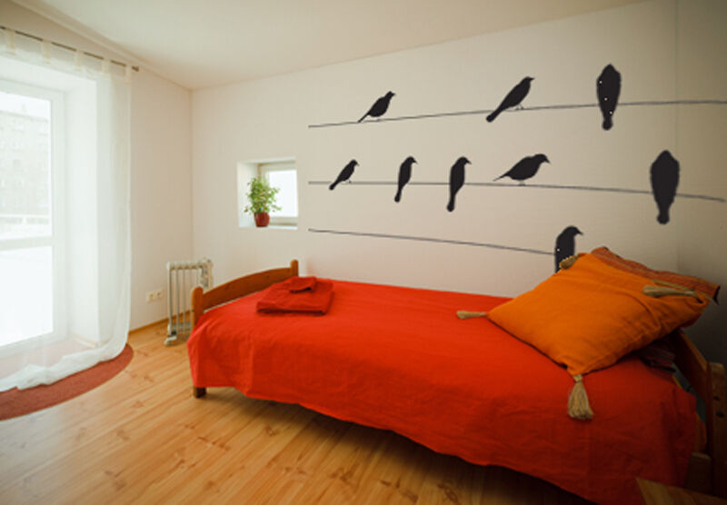 BIRDS ON A WIRE NATURE CITY WALL DECOR DECAL