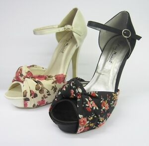 447b680e57ff Image is loading Anne-Michelle-L3342-Floral-Printed-Ankle-Strap-Sandals-