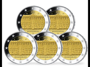 2 Euro Deutschland - 5 x 2 Euro Satz Brandenburg - A, D, F, G, J, NEU - Allmersbach, Deutschland - 2 Euro Deutschland - 5 x 2 Euro Satz Brandenburg - A, D, F, G, J, NEU - Allmersbach, Deutschland