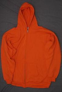 nEW-Port-and-Company-Ultimate-Full-Zip-Hooded-Sweatshirt-Bright-Orange-2XL-Tall