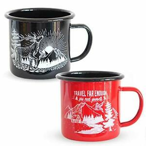 Camping Mugs for Indoor and Outdoor Activities - Essential RV or Camping Acce...